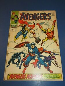 Avengers #58 Silver age Origin of Vision Fine- Wow
