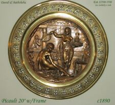 Large Original Emil Picault High Relief Bronze David and Bathsheba