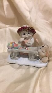 Dreamsicles Figurine EASTER ARTIST 10325 Retired 1997 Angel Cherub Bunny Eggs