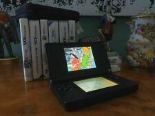 Nintendo DS Lite en negro con bolsa y jugar 8-prestigio!