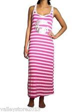 RX1 New Pink Striped Halter Summer Beach Tank Boho Casual Hoodie Sun Dress S M L