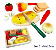 NEW Fun Factory Wooden Pretend Play Toy Kitchen Food ~ Picnic Food Box