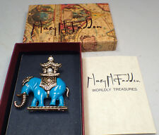 Mary McFadden Worldly Treasures Elephant Pin --Never Worn in Box --RARE