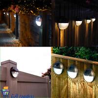 Solar Powered 2 LED Door Fence Wall Step Outdoor Garden Lighting Pathway Lights
