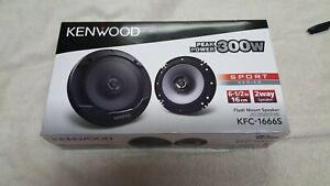 Kenwood KFC-1666S 300W 6.5-Inch Coaxial 2 Way Audio Speaker (1 Pair)