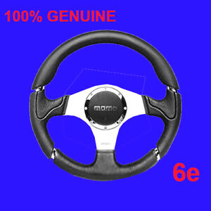 """MOMO Millenium Steering wheel 350mm***100% GENUINE*""""Made in Italy"""" NEW last  one"""