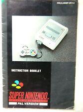 64093 Instruction Booklet - Super Nintendo Console - Nintendo SNES (1992) HW(A)-