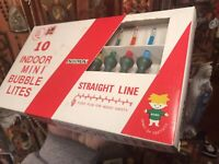 Rare New In Box 1960's NOMA Christmas Tree Lights Vintage Liquid Bubble Indoor