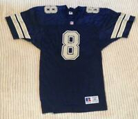 Vintage Troy Aikman #8 Dallas Cowboys NFL Football 1980s Russell Jersey Size 44