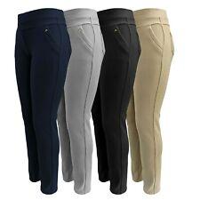 Hosen Damen - Stoffhosen (STRETCH) mit Gummizug - Freizeithose mit Taschen 40-48