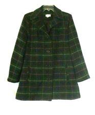 New Joan Rivers Plaid Swing Jacket Medium Button Long Sleeve A296139 Women EE561