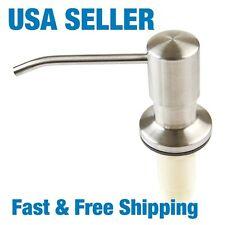 Stainless Steel Kitchen Sink Liquid Soap Dispenser Home Plastic Bottle US Seller