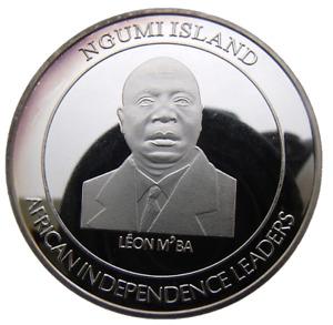 NGUMI ISLAND - SOMALIA 100 SHILING 2015 LEON M'BA 40mm PROOF COIN