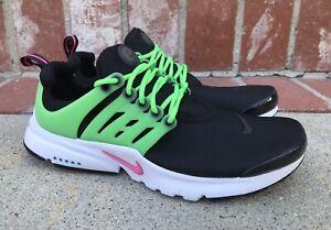 Nike Air Presto Size 8.5 Womens/ Size 7Y Kids Black Hyper Pink Green DJ5152-001