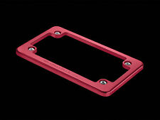 WeatherTech Motorcycle Billet Aluminum License Plate Frame - Red