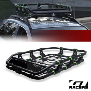 Modular HD Steel Roof Rack Basket Travel Storage Carrier w/Fairing Matte Blk G33