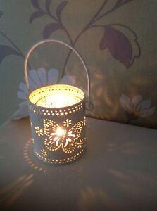 Shabby Chic Hanging Metal ButterflyTea Light Holder-Tealight-Garden-Home-Wedding