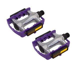 """940 Alloy Pedals 9/16"""" Purple Bicycle Bike Road MTB Cruiser Fixie"""