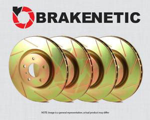[FRONT + REAR] BRAKENETIC SPORT SLOTTED Brake Disc Rotors BSR79764