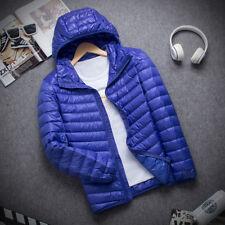 Men's Winter Ultralight Down Jacket Hooded Puffer Outerwear Coat Hoodie Packable