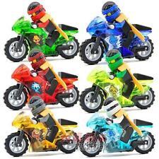 6 Sets Ninja Ninjago Minifigures JAY Lloyd Motorcycle Chariot Blocks Fast Ship