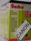 (PRL) LOTTO CARTUCCE 4 COLORI GEHA C30 COMPATIBILE PER CANON INK CARTRIDGE LOT