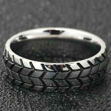 Ring Inspired Band Punk Fashion Jewelry Mechanic Car Tire Men's Stainless Steel