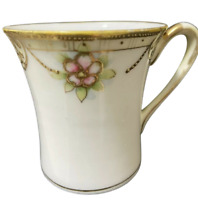 "NIPPON Porcelain Tea Cup Hand Painted Moriage Antique Collectible 2-3/4""x 3"""