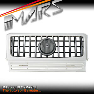 White AMG Style Bumper Bar Grill Grille for Mercedes-Benz G-Class W463 & G55 G63