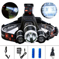 50000LM XML T6 Led Headlamp Headlight Head Torch 18650 Head Flashlight Lamp