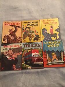 Wonder Books Range Rider Soupy Sales Trucks Brave Tailor Magic Word Dress Up VG+