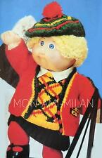 Knitting Pattern copie CABBAGE PATCH DOLLS CLOTHES Varsity Outfit jupe gilet etc