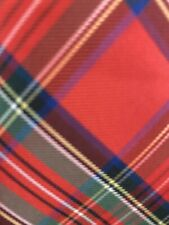 Chaps Youth Boys Plaid Polyester Necktie Red Blue Green White Tie Euc