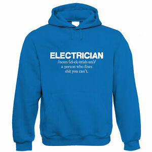 Electrician Mens Funny Hoodie - Birthday Fathers Day Gift for Dad Grandad