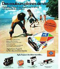 PUBLICITE ADVERTISING 037  1975   AGFA   appareil photo Agfachrome Super 8