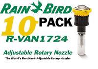 10 Rain Bird R-VAN Adjustable Rotary Nozzle R-VAN1724 17-24 Foot Throw Radius