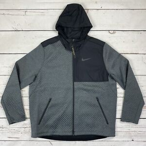 Nike Therma Sphere Max Men's Size XXL Full Zip Jacket Gray/Black BV3998-070