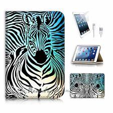 ( For iPad mini 4 ) Flip Case Cover! P0493 Zebra