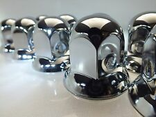 Set of 10 x 33mm Polished Stainless Steel Wheel Nut Covers for all 33mm nuts