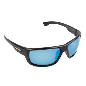 Hobie Polarized Point Sur Sunglasses Black Frames Cobalt Lens 67 18 120 F7J Mens