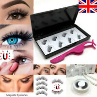 New Magnetic Eyelashes Reusable Triple Magnet 3D False Eye Lashes Extension