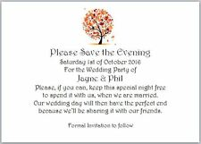 20 A6 Save the Date/Evening Wedding Cards - Autumn Tree - With Envelopes (Flat)