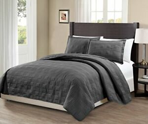 Mk Collection 3pc Over Size Geometric Bedspread Bed-Cover Quilted KING/CAL KING