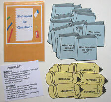 Teacher Made Literacy Center Resource Game Punctuation Questions Statements