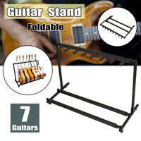 7-Guitar Instrument Foldable Multi Guitar /Bass Stand Rack Storage Contianer
