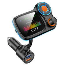 Wireless Bluetooth 5.0 FM Transmitter Car Radio Adapter MP3 Player USB Charger