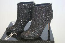 NIB New Sexy Sam Edelman Women's Kourtney Glitter Bootie Stiletto Heel size 6.5