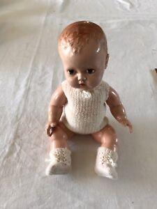Vintage BND Hard Plastic 10ins Baby Doll 1950's.
