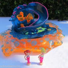 Mini Polly Pocket Sea Splash Fun Slide Ariel Karussell Rutsche Planschbecken.