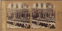 Grand Hotel Intercontinentale Parigi Stereo Diorama Tessuto Vintage Ca 1865